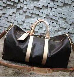 Wholesale Men Leather Duffle - Keepall Travel Luggage Bag Damier Graphite PU Leather Handbag Men Travel Bags Mens Travel Totes Bag Mens Duffle Bag 55CM
