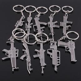 portachiavi pistola Sconti Counter strike Fivesevem pistola portachiavi modello di arma pistola portachiavi in lega di 12 cm gioielli Llavero Chaveiro