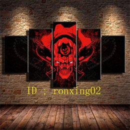 Wholesale Hd Gear - Hydro 74 Gears of Wa 5 Pieces Home Decor HD Printed Modern Art Painting on Canvas (Unframed Framed)