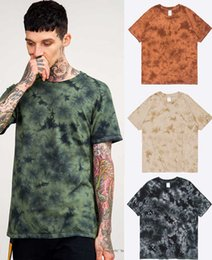 Wholesale Tie Dye Shirts For Men - New street Europe and the manual tie-dye crack men's short sleeve T-shirt for men and women of ins men t-shirts
