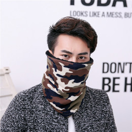 Wholesale Winter Mufflers Men - New Autumn Winter Men Scarf Hot Sale Promotion Fashion Camouflage Warm Muffler Scarf Thickening Protect Neck Face Scarves
