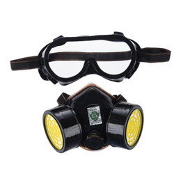 Gas Mask Dual Anti-dust Spray Paint Industrial Chemical Gas Respirator Mask Glasses Set Black 2019 Fashion Trendcy Masks Back To Search Resultsbeauty & Health