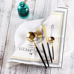 4pcs / set all'ingrosso Set di stoviglie in acciaio inox posate cena accessori per la tavola da cucina Western Fork spedizione gratuita da