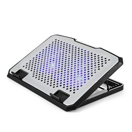 fan low noise Coupons - NCP78 - A USB Cooling Pad for 15 inch Laptop Dual Fan Adjustable Stand LED Light 20dBm Low Noise 800RPM