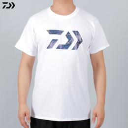 3336840cd5e8 DAIWA DAWA Summer 2018 Fishing T Shirt Cotton Short Sleeve Quick Drying  Breathable Anti-UV Sun Protection Fishing Clothing
