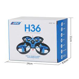 1pcs venta! JJRC H36 Mini Drone 2.4GHz 6 ejes RC Micro Quadcopters con abejones en modo sin cabeza volando helicóptero para el regalo del niño desde fabricantes