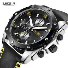 Canada Bracelet en cuir pour hommes Casual Quartz Wrist Watches Horloge de mode étanche chronographe Stop Watch pour Man Relogios 2074GS-BK-1N13 supplier bk leather Offre