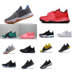 low priced 6112d 76217 Hommes Kyrie low cut chaussures de basket à vendre équipe rouge noir loup  gris gris jaune Flytrap élite kyries irving 4 IV baskets bottes avec boîte