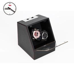 Wholesale Carbon Fiber Storage Boxes - Wholesale-New Arrival P0078-CF Carbon Fiber Multi Modes Watch Storage box Automatic Watch Winder