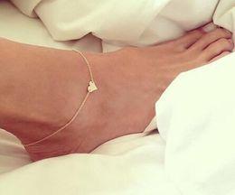 schmuck amerikaner Rabatt Neue Sexy Herzförmigen Anhänger Fußkettchen Armband Fuß Schmuck Barfuß Sandalen Strand Zubehör Europäischen und Amerikanischen Mode Fußkettchen