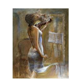 pannelli a torre eiffel Sconti Pittura di figura frameless gioca la pittura di diy di violino dai numeri pittura dipinta a mano di calligrafia regalo unico per la decorazione domestica