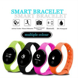 Wholesale Firefox Android - Sport Fitbit H8 Health Bluetooth Smart Bracelet Pedometer Sleep Tracker Fitness Watches Smart Band for iOS Android Smart Phone