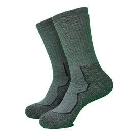 Calcetines de lana gris online-1 par de color gris oscuro The Whole Terry Thicker lana térmica Calcetines Thermo Hikingsocks calcetines de los hombres