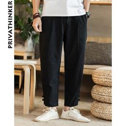 8a9e9e1a27bc Sinicism Store Mann Baumwolle Leinen schwarze Hose Männer beiläufige  Breathable Hosen Sommer 2018 männliche traditionelle Hosen Hosen