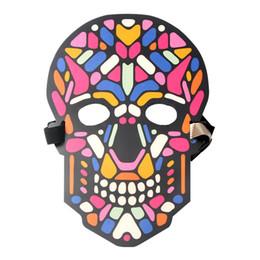 Canada LED contrôle de la lumière froide masque contrôle El Mask - série de crâne pour Bar KTV Halloween vacances Dance Party Cosplay Halloween décor supplier ktv decor light Offre