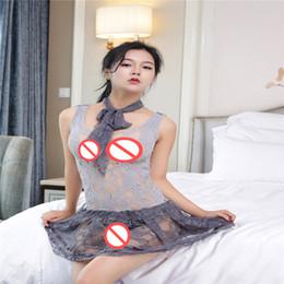 2019 correas sexuales Lencería sexy correas de pecho con perspectiva hueca de una mujer sexy falda de malla de una pieza pijamas sexy pareja juguetes sexuales rebajas correas sexuales
