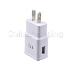 Cargadores base online-Buen cargador rápido 5V 2A Eu EE. UU. Plug Usb Adaptador de cargador de viaje de pared Cargador USB de viaje en casa universal para iphone 7 samsung note 8 9 S8 S9 S7