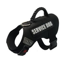Zug-patches online-Hundeweste Harness für Diensthunde, Premium Komfortable gepolsterte Hundetrainingsweste Harness mit 2 abnehmbaren Patches für große, mittelgroße Hunde