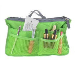 dual zipper UK - Wholesale- Hoomall Portable Multifunction Thicken Dual Zipper Storage Bag Case Cosmetic Organizer Holder Travel Insert Bag Cosmetic Bag