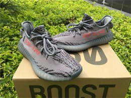 Wholesale Casual Tennis Shoes For Women - SPLY 350 Boost V2 Kanye West Boost BELUGA 2.0 AH2203 Running Shoes For Men Blue Tint Fluorescent green Yebra Casual Sneakers 350 v2