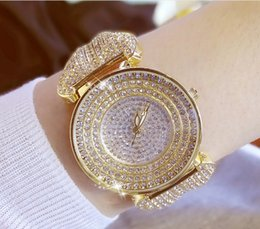 Wholesale womens bling - Shiny Rhinestones Wristwatch Womens Quartz Watches Luxury Bling Watches