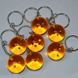 7 pçs / set 2.7 cm Dragon Ball Z Novo No Saco de 7 Estrelas Bolas De Cristal PVC Figuras Brinquedos Pingente Chaveiro 1 2 3 4 5 6 7 star conjunto Completo A-658 de