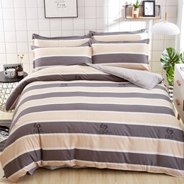 Wholesale Checked Bedding Sets - 2018 New Classic Stripes and Checks Printed Twin Full Queen King Size Bedding Set  Duvet Cover Set for Kids and Adults