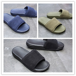 792151b7a fabric flip flops Promo Codes - Wholesale black green slippers Soft Sandals  outdoor trainers sneakers sports