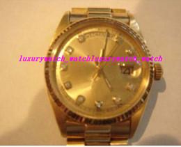 2019 роскошные часы из чистого золота Роскошные наручные часы твердые 18k желтое золото часы автоматические шампанское Алмаз мужчины часы мужские часы высокое качество дешево роскошные часы из чистого золота