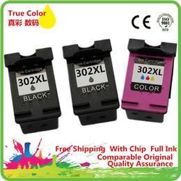 Canada 1 jeu + 1 cartouche d'encre noire réusinée pour 302 XL HP302 HP302XL 302XL Deskjet F2438 F4288 F4488 D1668 D2568 D2668 D5568 supplier ink sets Offre