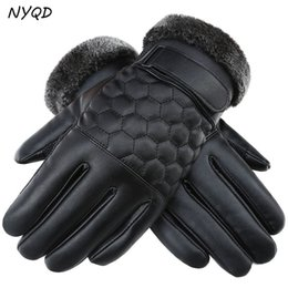 Wholesale Men S Brown Leather Gloves - Outdoor Sports Windstopper Waterproof Gloves Black Riding Glove Motorcycle Gloves Touch Screen Black Full Finger Men