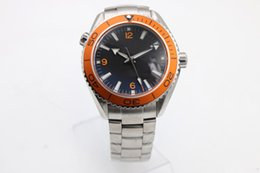 Wholesale Quality Machinery - Hot Top high quality N8 factory luxury brand master co-axial series orange rotating ceramic bezel ETA8500 automatic machinery man watches