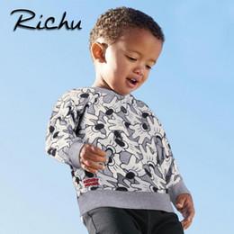 Wholesale Paisley Hoodie - Richu cartoot animal boy sweatshirt kids t shirt hoodies toddler baby clothing sweatshirts child christmas products O NECK T SHIRTS tops