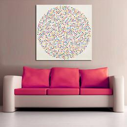 Canada 1 Panneau Moderne Peinture Cercle Inclure Beaucoup De Points Colorés Imprimé Toile Peinture Murale Image Pour Salon No Frame Offre