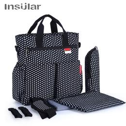 Wholesale polka dot diaper bags - Wholesale Fashion Dots Style Baby Diaper Bag Women Tote Bag Fashion Messenger Mommy Bag
