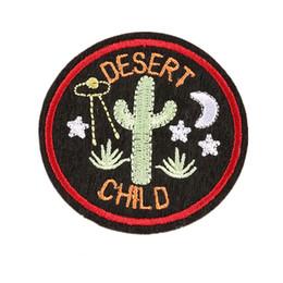 Bordado crianças diy on-line-6 cm costurar ferro no remendo bordado cacto deserto criança remendos bordados emblemas para saco de jeans chapéu camiseta diy apliques artesanato decoração