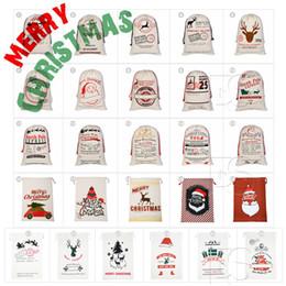 vente en gros de crayons noirs Promotion 26 Styles 2018 Sacs de cadeaux de Noël Grand Sac en toile épais et bio Sac de sac à dos pour sac de Père Noël Avec des sacs de renne pour Père Noël