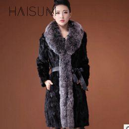 Wholesale Plus Size Mink Coats - 2018 Limited New Full High Waist Vest Faux Coat Imitation Mink Winter Women Coat Faux Fluffy Jacket Plus Size 3xl Nv017