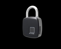 Wholesale door anti theft lock - New Smart Fingerprint Lock Portable Security Padlock Waterproof Anti-theft Padlock for Golf bag Suitcase Gym Locker Cupboard Drawer Door