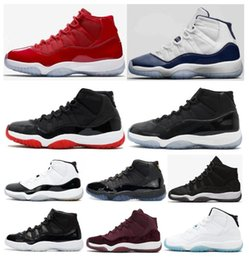 Wholesale Red Mid - High Quality 11 11s Space Jam Bred Concord Basketball Shoes Men Women 11s Gym Red Midnight Navy Gamma Blue 72-10 Sneakers With Box