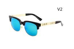 Wholesale vintage half frame sunglasses wholesale - 2018 Brand Designer Sunglasses Classic Vintage Sun glasses for Men Women Driving glasses UV400 Metal Frame Flash Mirror half frame Lens 2166