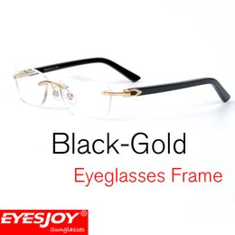 fc186fcb3149 18K Gold Frame Eyeglasses Glossy Black leg Luxury Fashion men Brand  Designer Glasses Myopia Eyeglasses Frames with Original Box CT5952143