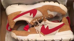 Wholesale Buttons For Crafts - Tom Sachs x Craft Mars Yard 2.0 TS NASA Running Shoes For Men Natural Red Crafts Sports Sneakers Designer Shoes Zapatillas Vintage36-44