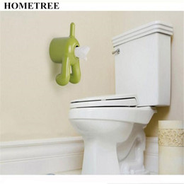 Wholesale health dogs - HOMETREE 1 Pcs Dog Ass Modeling Roll Paper Tissue Box Health Between Living Room Napkin Holder Wall Hanging Pumping Cartons H594