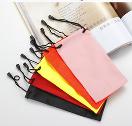 Wholesale eyeglasses cases free shipping - Portable Soft Waterproof bag for sunglass eyeglass Mobile 3D glasses Protecitve case Bag pouch Free shipping