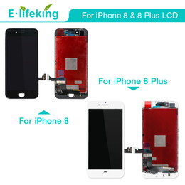 Wholesale Iphone White Parts - LCD Display For iPhone 8 8 Plus Touch Screen Digitizer Assembly Parts AAA+++ LCD Replacement Free DHL Shippping Black & White Color