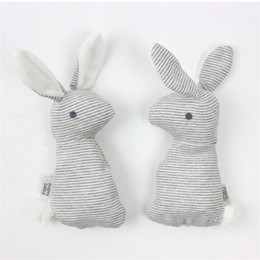 Wholesale Christmas Animals Play - Baby Rattle Toys Animal Cute Rabbit Hand Grab Toy Gift With BB Sound Playing Gift Plush Doll Kids Rattle Toy 3 8bx W