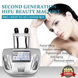 2019 maquinas de ultrasonido para arrugas Nueva Llegada Ultrasonido Eliminación de arrugas Línea de Radar Carve Dispositivo de Masaje Facial Apriete la Máquina de La Piel V-max Hifu Face Lift SPA DHL rebajas maquinas de ultrasonido para arrugas
