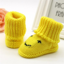 baby yarns knitting Coupons - NEW!!!New Fashion Trendy Toddler Newborn Baby Knitting Lace Crochet Shoes Buckle Handcraft Cute Yarn Shoes Tops F804
