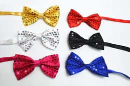 Wholesale China Yarns - paillette bow tie bling bow tie 10pcs lot 5color mixed 12*7 cm free shipping via China post